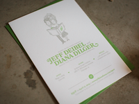 Booked Themed Wedding: Letterpressed Invite