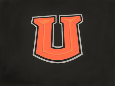 University U alphabet lettering typography madewithpaper hand lettering