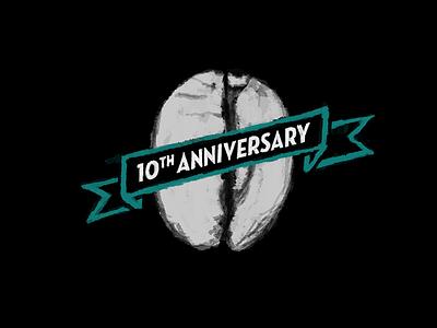 Coffee Shop 10th Anniversary Illustration coffee chalk icon illustration