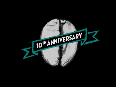 Coffee Shop 10th Anniversary Illustration coffee chalk icon illustration