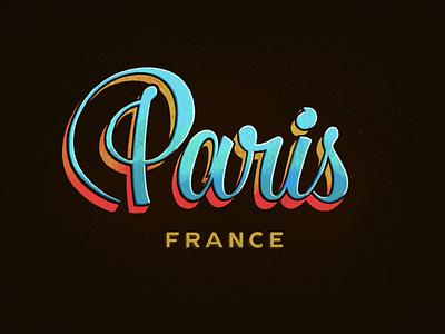 Paris🍷> Franzia procreate hand-lettering france typography lettering paris