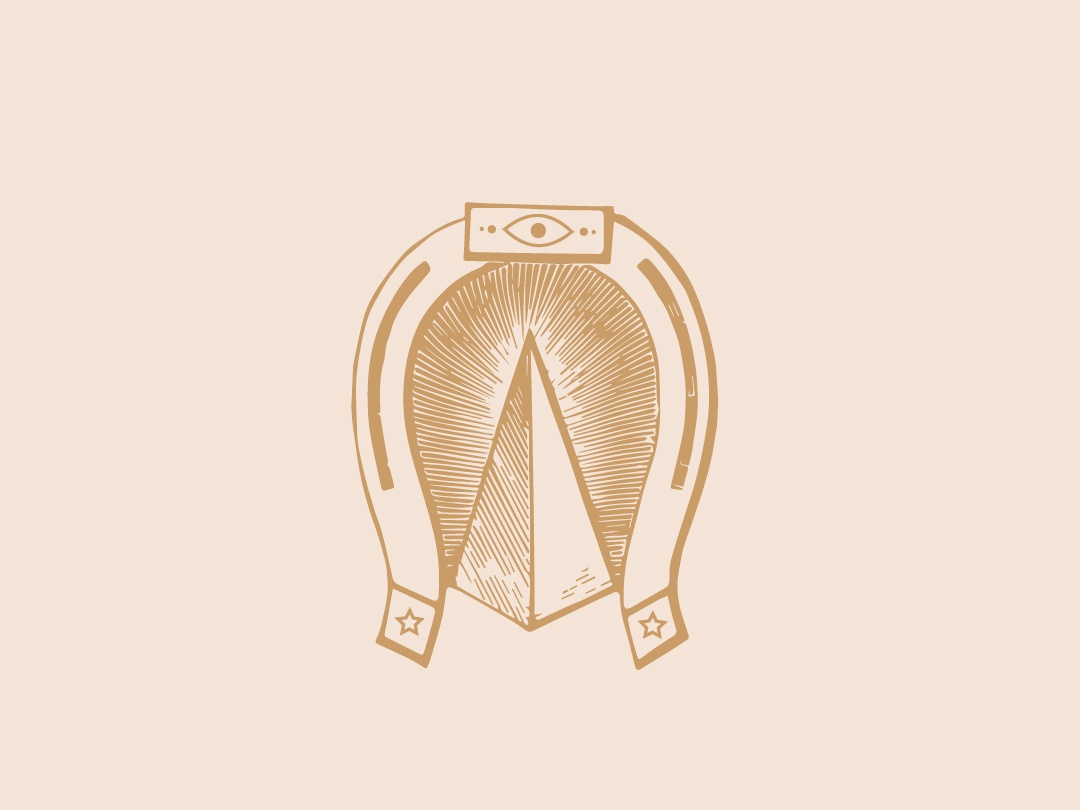 Horseshoe Graphic graphic art design symbols horseshoe logo branding illustration logo type logo design ethereal iconography geometric logo brand identity sacred geometry