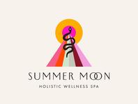 Summer Moon Logo Design
