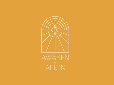 Awaken + Align Logo Design