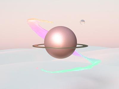 3D Scene science fiction planet 3d art 3d artist 3d icon digital art logo design illustration branding brand identity adobe dimension cosmic