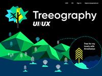 Treeography illustration | ui/ux