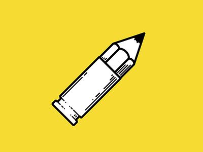 My new userpic sketchapp userpic pencil cartridge bullet