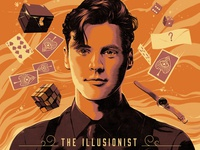The Illusionist Kevin Blake Poster illustration mystical rubix cube watch playing cards illusionist illusion magic magician