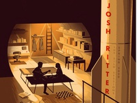 Josh Ritter Silo Sessions Charity Poster wwii bunker josh ritter music bomb missile guitar gig poster poster illustration