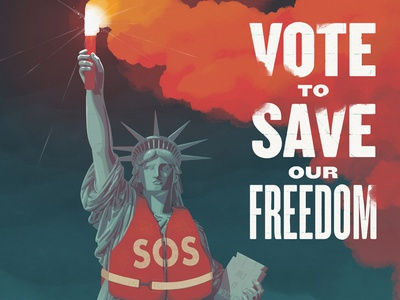 Global Inheritance Poster flare monument statue new york sos freedom vote usa statue of liberty
