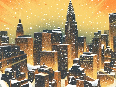 NYC Winter snow skyline dave matthews band dmb new york city new york nyc snow globe winter
