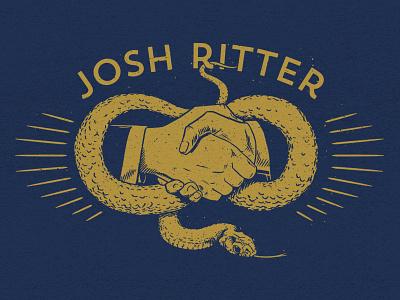 Josh Ritter Handshake Tee josh ritter deal serpent snake handshake hands