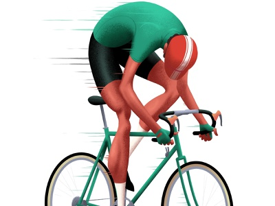 Cyclist illustration procreate vintage bicycling bike cycling cyclist