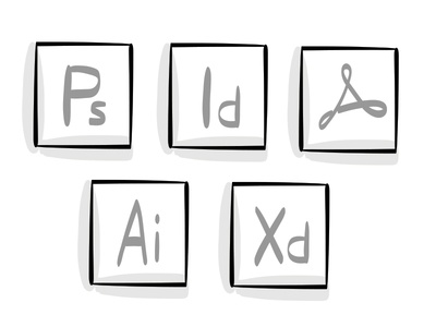 Sketchy Adobe Icons adobe icons desktop icons ux ui adobe icons