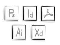 Sketchy Adobe Icons