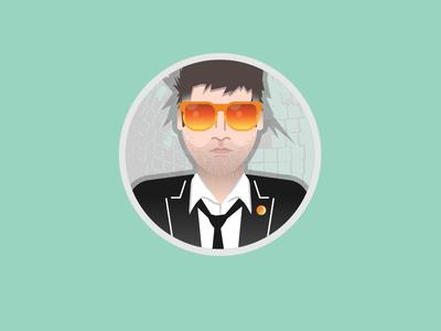 Lcd Soundsystem icon music icon illustrator illustration avatar