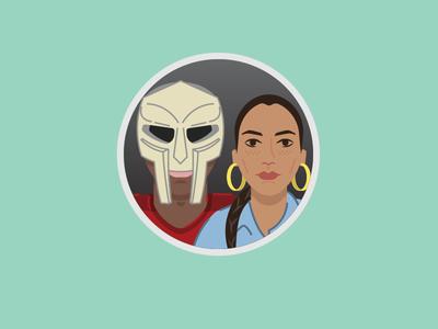 MF Doom and Sade icon music icon illustrator illustration avatar