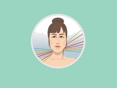 Feist Avatar music icon illustrator illustration icon avatar