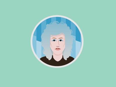 Saint Vincent Avatar music icon illustrator illustration icon avatar