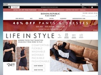 Banana Republic Factory August Homepage Refresh
