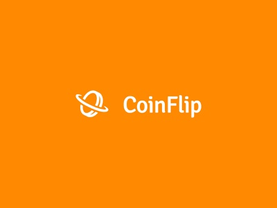 Coin Flip flip coin orange icon font branding design vector logo illustrator