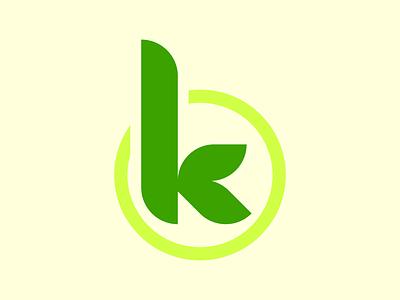Nature K font vector design illustrator branding logo graphic design