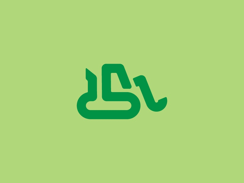 excavator v2 building green excavator icon illustration branding vector logo design illustrator