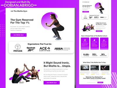 Web Design Landing Page - Gym web design landing page design ecommerce design concept clean branding website web uiux ux ui type typography texture simple symbol photoshop modern graphic design
