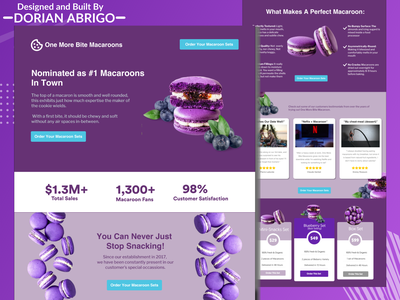 Macaroon Website Landing Page design ux ui webdesign ecommerce graphic design modern photoshop symbol simple texture typography type uiux web website clean concept branding