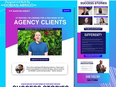 Agency Website Design Mockup Landing Page Template branding concept clean website web uiux type typography texture simple symbol photoshop modern graphic design ecommerce webdesign ux ui design