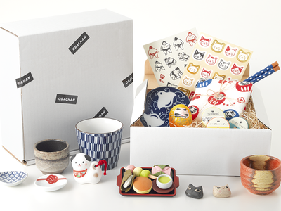 Get Obachan cup stickers chopsticks toy ceramic design box homeware subscriptionbox subscription japanese japan