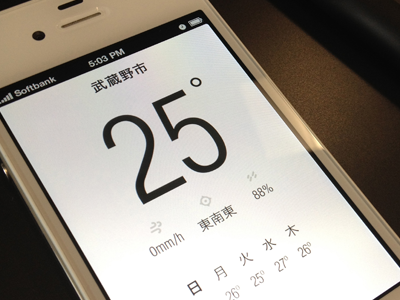 Weather app weather app ui angeloro settings icons helvetica japanese days precipitation humidity degrees japan ios