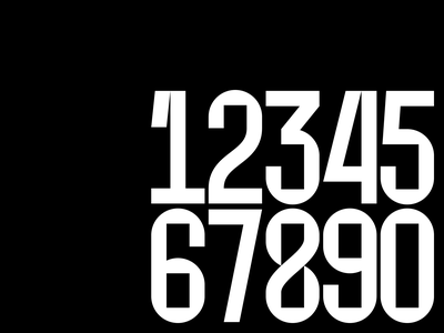 AURA Numbers time font type numbers