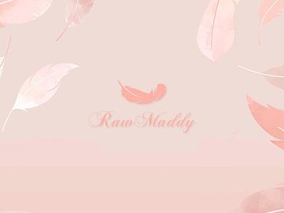 Raw Maddy Cosmetic Logo Branding branding logo graphic design