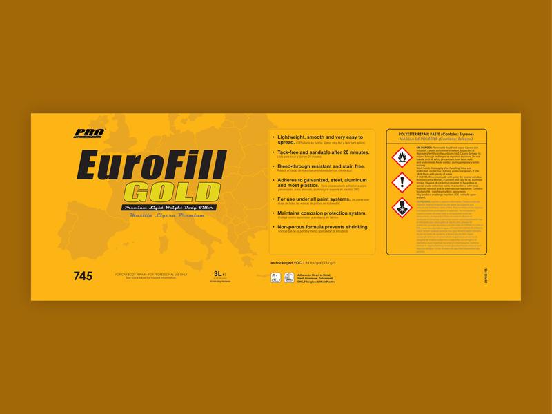ProLine EuroFill Gold Label packaging label design branding design