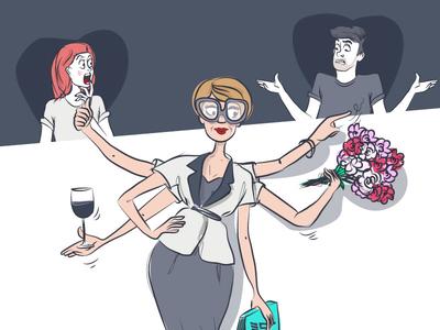 Wedding mother vector mariage illustration wedding