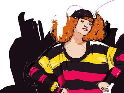 Sonia Rykiel vector mode women illustration