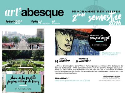 Art'abesque Programme poster affiche edition
