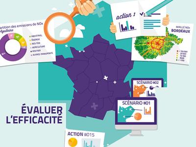 Infographie Qualité de l'air vector illustration infographic infographie