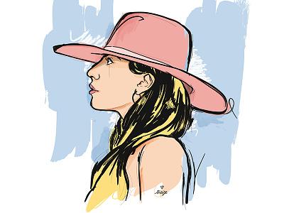 Lady Gaga women vector illustration ladygaga