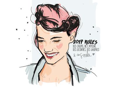 2017 rules vector women illustration 2017
