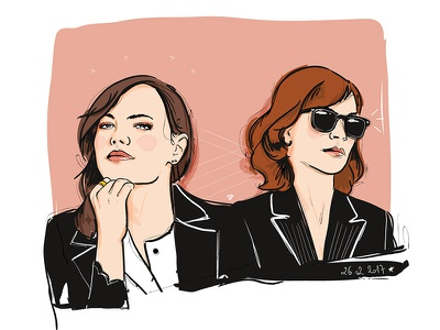 Oscars 2017 emma stone vector women illustration oscars
