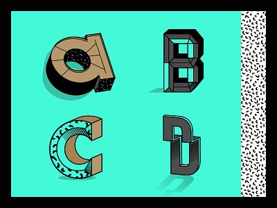 Alice wonderful typo letter vector illustration typography