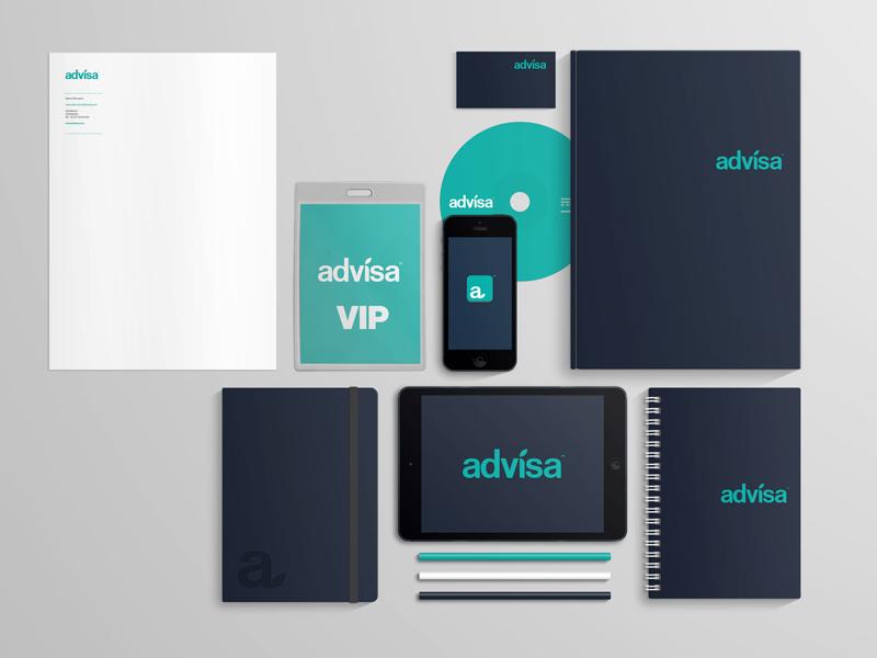 Advisa branding concept branding logo stationaries design