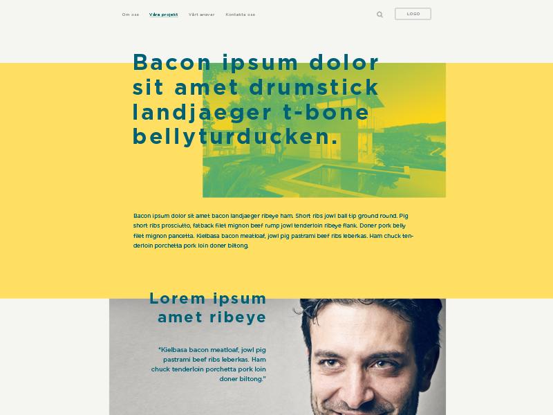 Dribbble modern design yellow web grid