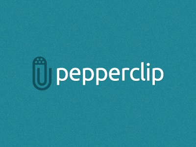 Pepperclip logo branding