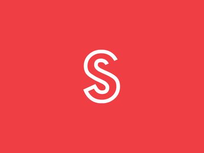 S type typography branding letter logo s monogram
