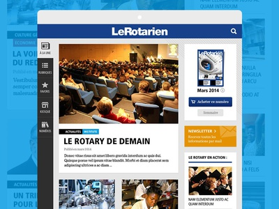 Newspaper app cards interface blue ui articles newspaper ios ipad app application