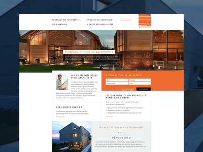 Architect website clean web simple minimal layout website ui ux minimalist design architect