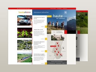 Blog layout ui grey yellow red posts articles grid layout webdesign website web blog